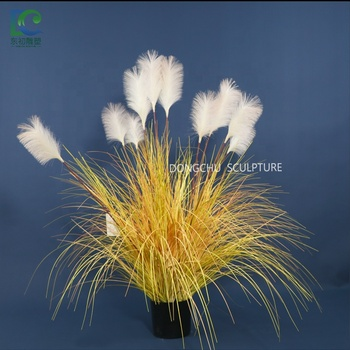 New Artificial Green Plants Bonsai 137cm, Reed Artificial Flowers for Wedding and indoor Home