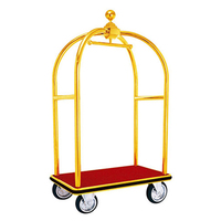 High quality custom adjust lobby vintage hotel luggage cart