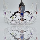 Silver Royal Man Prom Party Hats Costume Accessories Tiaras Full Metal King Crowns For Men