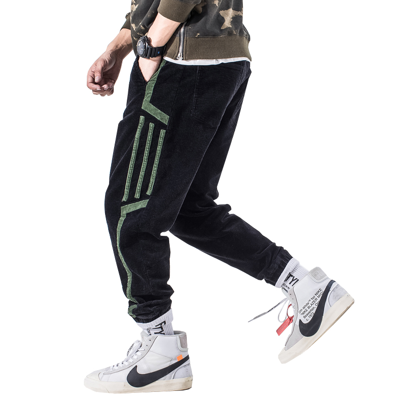 high quality black boy design track pants the same style to Justin Bieber