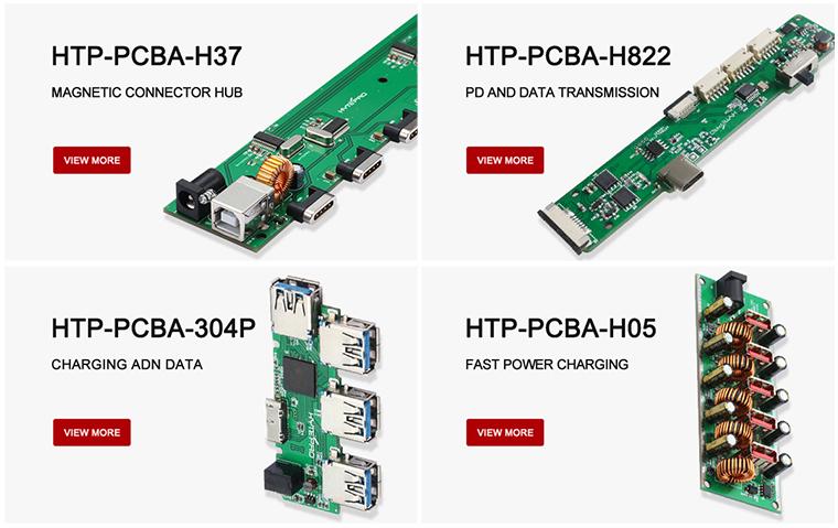 Aangepaste hoge kwaliteit 4 port ultra dunne 3.0 usb hub pcb board hytepro