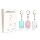 2020 Amazon Hot 150DB Rechargeable Security Self Defense Women Alarm Personal Attack Alarms Devices Safety Alarm Keychain