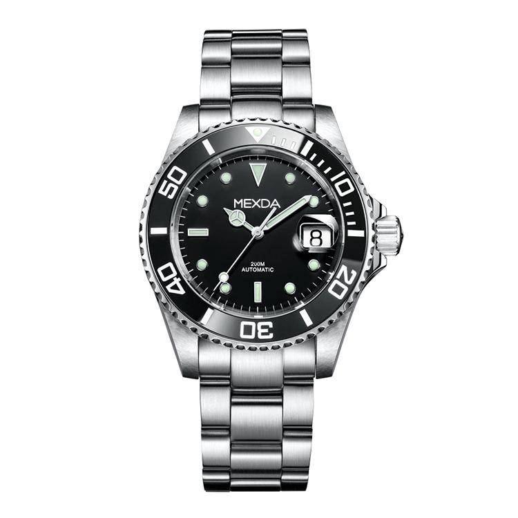 ที่กำหนดเองกันน้ำ 316L สแตนเลสอัตโนมัตินาฬิกาผู้ชายหรูหรายี่ห้อ