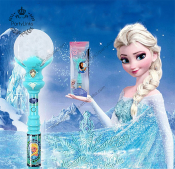 New Girl Toys Anime Cosplay Elsa LED Magic Wand Musical Henshin Rod Glow Stick Dance Spiral Elsa Doll Rod Best Gifts toy