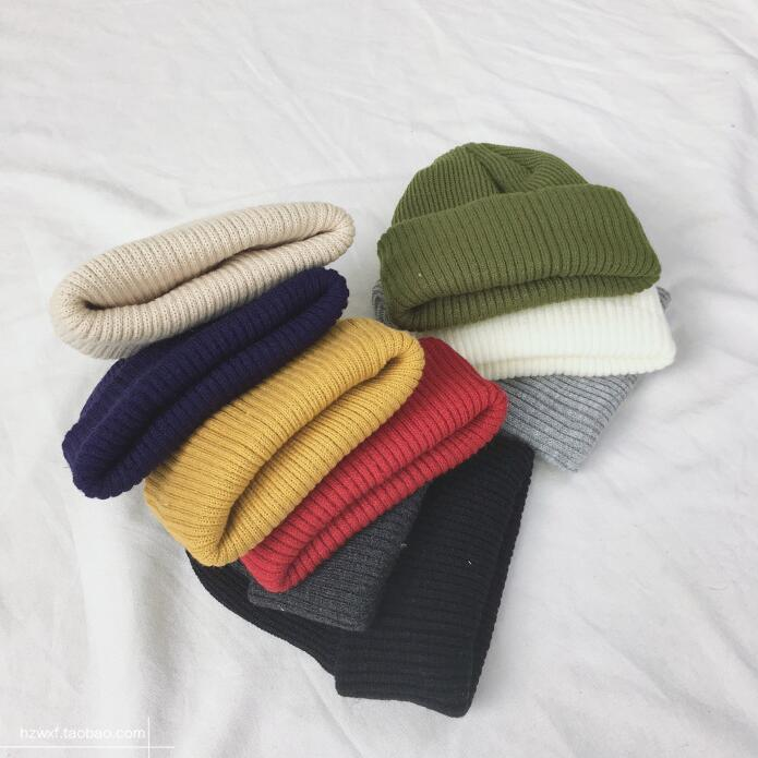 Top Quality Custom Design Unisex Cuffed Plain Skull Knit Hat Cap