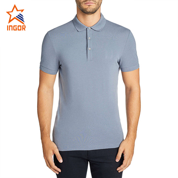 Nieuwkomers Grijs Mannen Business Wear Custom Polo Mannen Guangzhou 100% Katoen Heren Dri Fit Polo Shirts