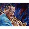 American Jazz Trombone And Big Band Leader Alton Glenn Miller Custom Portrait Xiamen Oil Painting From Photo