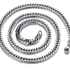 New Style Custom Jewelry Link Stainless Steel Silver Rope Necklace Chain for Men