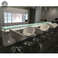 Beauty nail salon equipment furniture luxury nail table imc vented used manicure table for sell