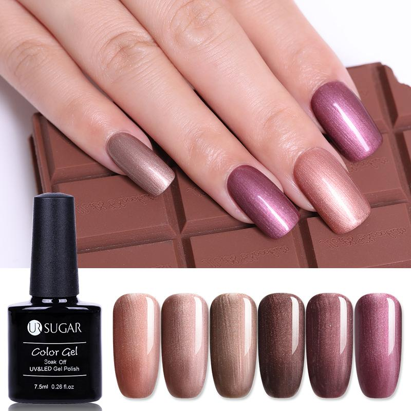 NOTRE SUCRE Coquille Ongles Gel Vernis Perle Chatoyant Bronze Pur Couleur UV Gel Vernis 7.5ml Tremper Hors UV gel de vernis à ongles