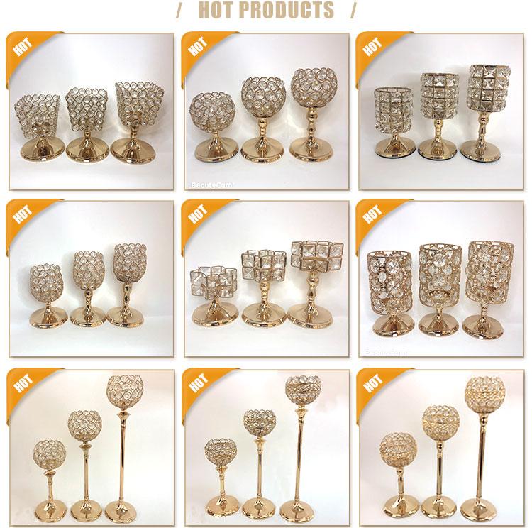 Decoração de casamento peças centrais candelabros de cristal ornamento da casa de pé chão candelabros na venda