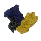 Industrial 10kg/bag recycled dark color clothes cotton cleaning rags