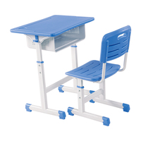 old plastic cheap school classroom furniture design adjustable height single children student desk and chair