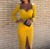 Manches longues Skinny Mini Robe Femmes Automne Sexy Robes De Style 4 Moulante Couleur Jaune Mince Clubwear