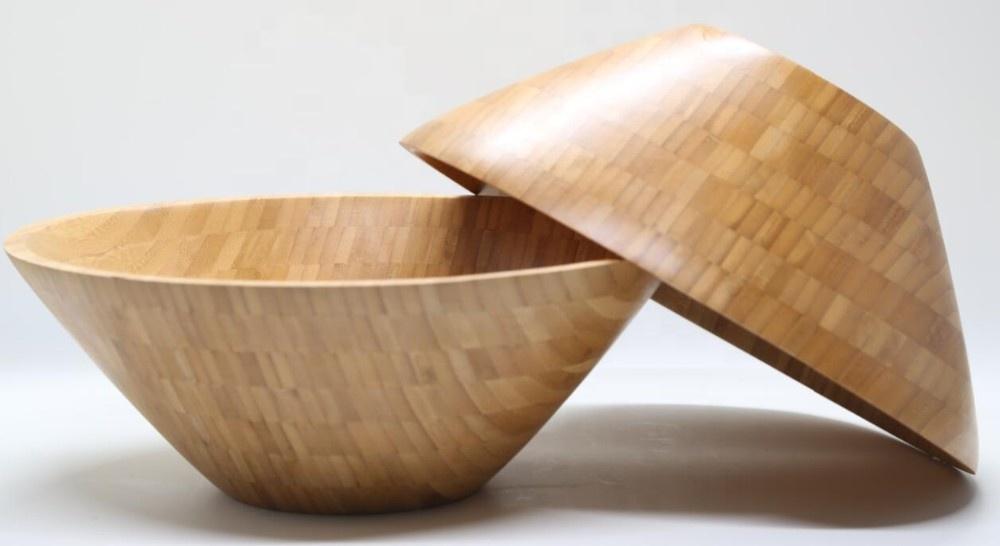 Wholesale Natural Bamboo Fruits Wood Salad Bowls 3