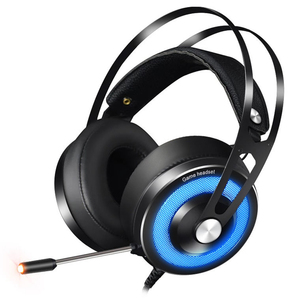 Best selling USB wired headband gaming headphones game Sports headphones gamer with led light