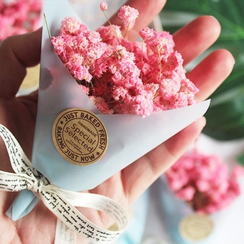 Mini Dry Flower Gift 11cm 5 Colors Artificial Baby Breath For Wedding Souvenir Box Holiday Decoration