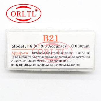 ORLTL Injector Shim Kits B21 Injection Nozzle Washer 1.500mm-1.770mm Valve Adjustment Shim for Denso