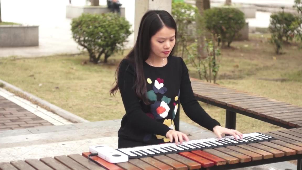 49 키 어린이 장난감 게임 인기 뮤지컬 트럼펫 휴대용 접이식 전자 피아노