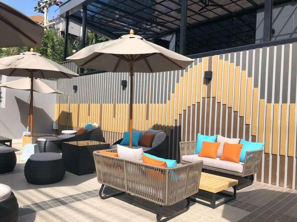 European modern outdoor garden furniture rope sofa set