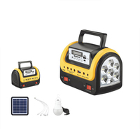 emergency lantern solar system power bank with radio and mp3