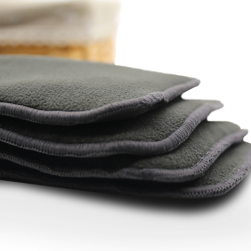 फैक्टरी मूल्य आरामदायक कपड़े डायपर आवेषण पुन: प्रयोज्य धो सकते हैं 2 परतों बांस की लकड़ी का कोयला microfiber डायपर सम्मिलित करता है