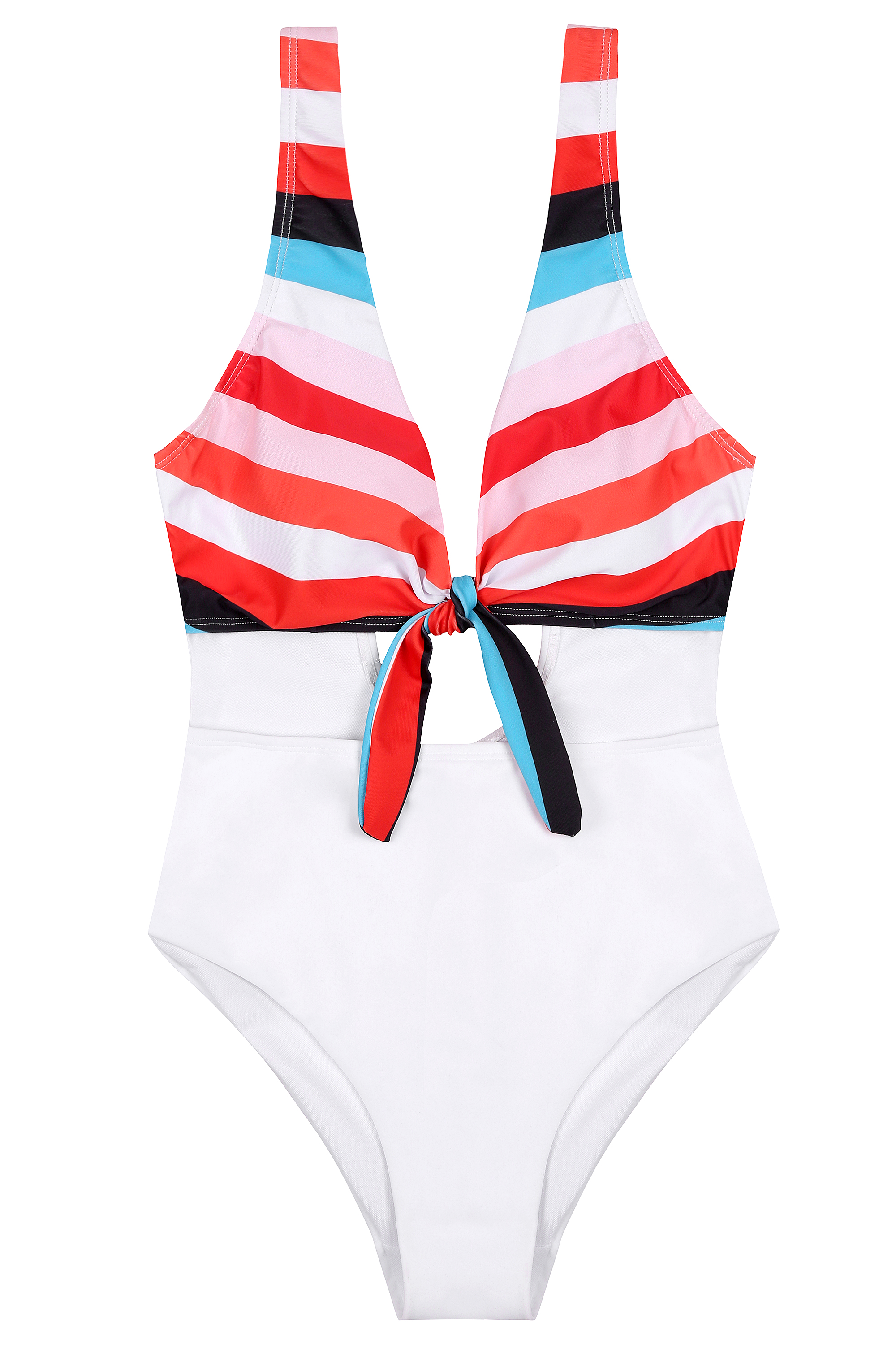 Knotted One-Piece Sexy Swimsuit With Long Legs Woman Swimsuit