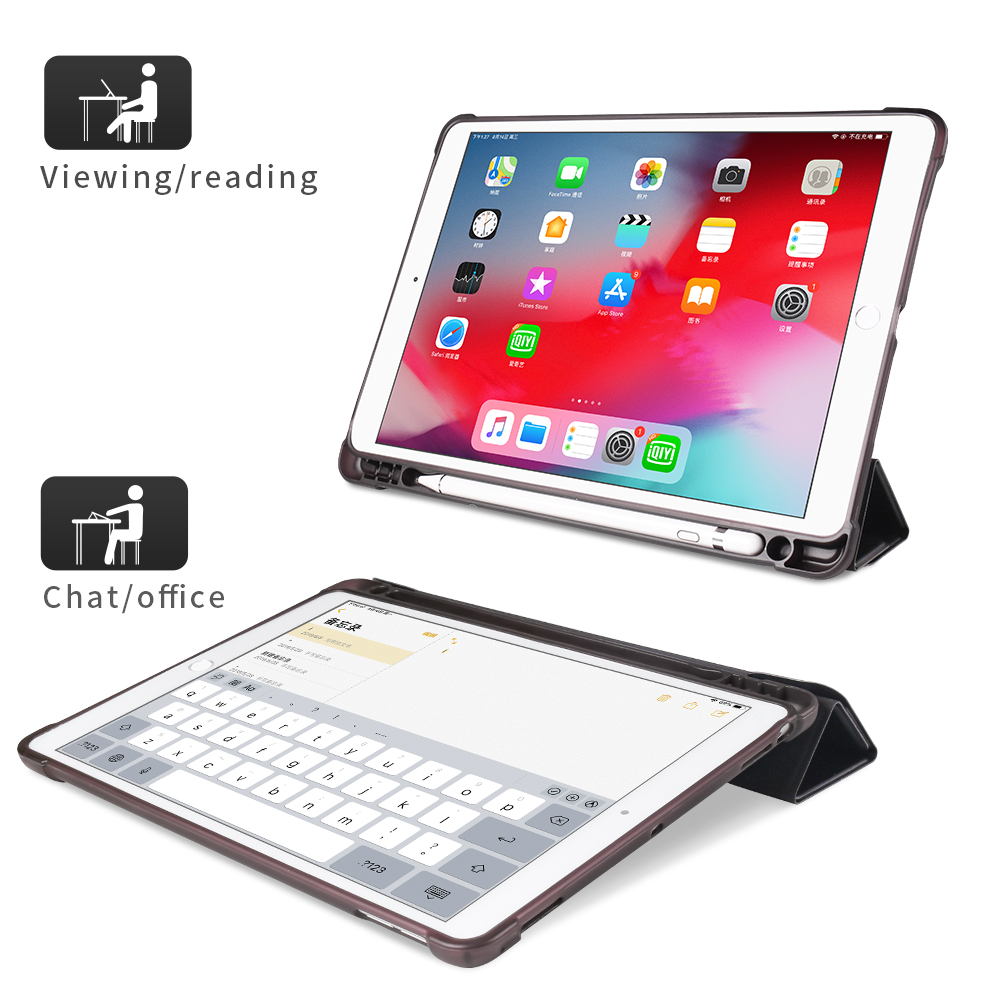 New Case For iPad 10.2 10.5 Universal Case Leather Flip Stand Cover For iPad TPU Tablet Folding Smart Case