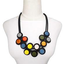 Женское Ожерелье с кулоном UKEBAY, готическое ожерелье из разноцветной древесины, этнические аксессуары для одежды, ювелирные изделия(Китай)