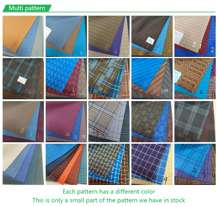 Summer thin 85% Polyester 15% Viscose TR blend material checked fabric suiting men's suits trouser blazer fabric for garment