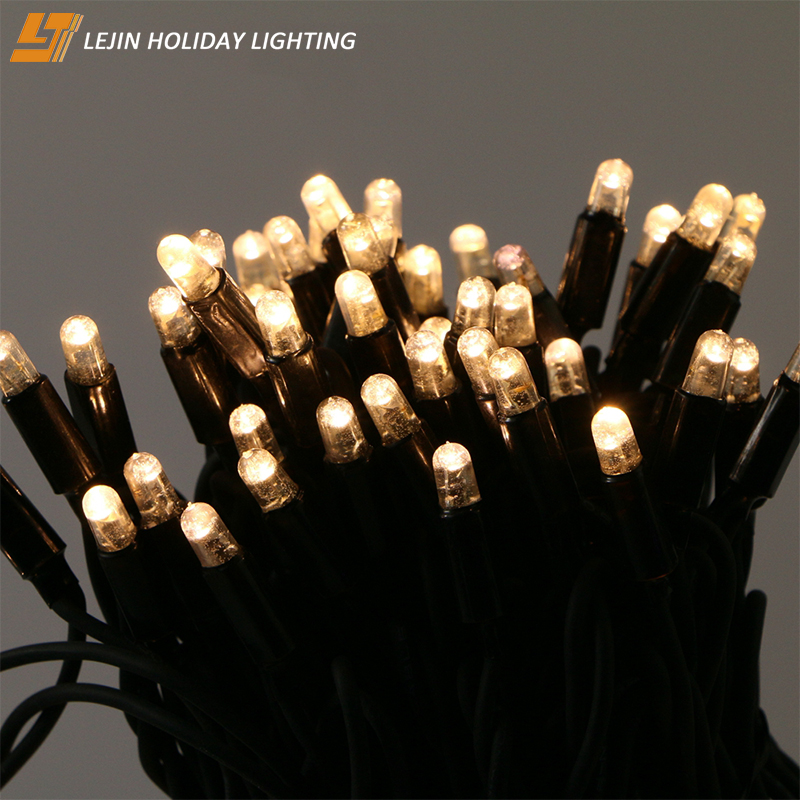 IP65 rated rubber wire male and female connector LED light string led light chain