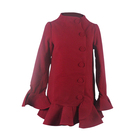 Best selling autumn long trench thick wool coat women