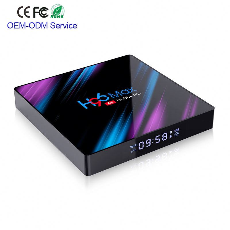 Excel Digitale Rockchip RK3318 Android 9.0 Smart Tv Box Lettore KD 18.1 Dual Band Wifi Streaming Android Tv Box H96 max