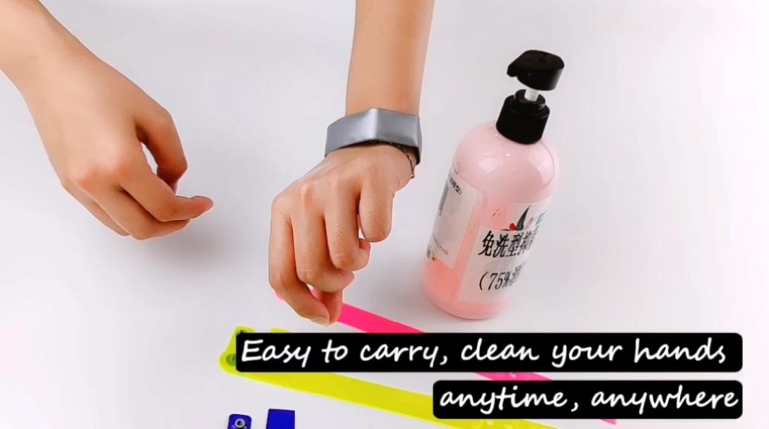 OEM держатель для дезинфицирующего средства для рук браслет регулируемый PVC силиконовый браслет на складе, для дезинфекции рук, для браслета