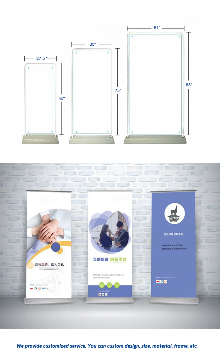 2020 Outdoor Advertising Backpack Walking Sign X Banner