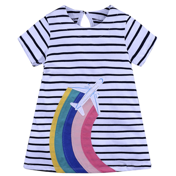 Perfect Design Summer Cute Cotton Baby Girl Princess Birthday Dress For Girls