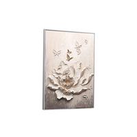 flower Oil painting arts handmade fashional 3D resin relief decor painting home furnishing
