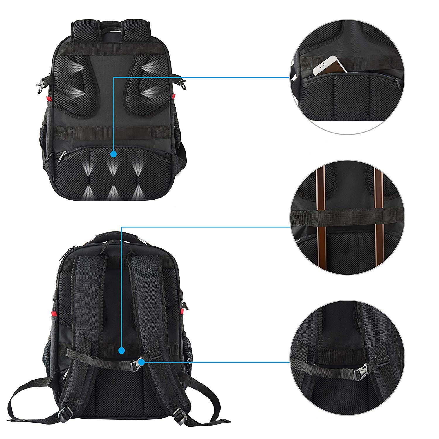 High Quality Customized Logo Laptop Backpack Large Capacity Travel Backpack