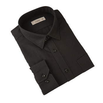 Custom Men's Long Sleeve Black Oxford Regular Fit Button Down Shirt