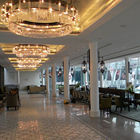 modern crystal large light brass big crystal chandelier pendant lights hotel lobby