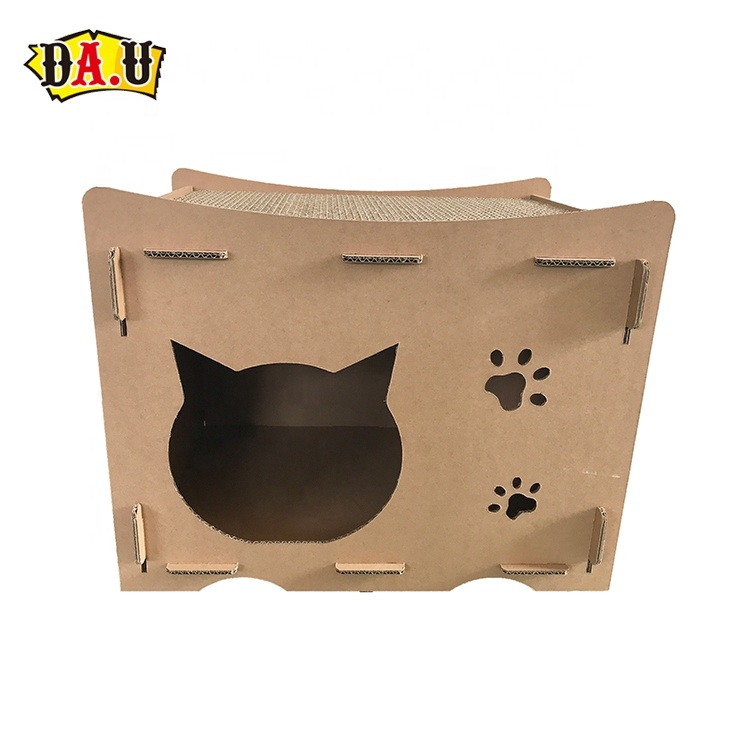 Customized pet product corrugated cardboard cat scratcher furniture