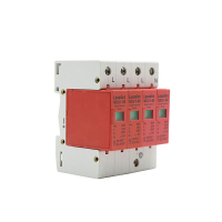 NDU1-60 4p red Outdoor Surge Protector Voltage Protector Device single phase AC Low Voltage Lightning Suppressor