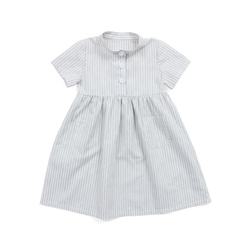 Cute non stretch poly cotton girl dress wholesale boutique children clothing girl dress