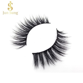 Private Label Custom Box Cruelty Free 3d Faux Mink Synthetic Hair Silk Eyelashes