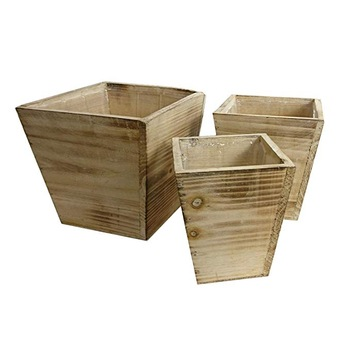 Hot selling handmade natural wood plant pots in indoor / outdoor
