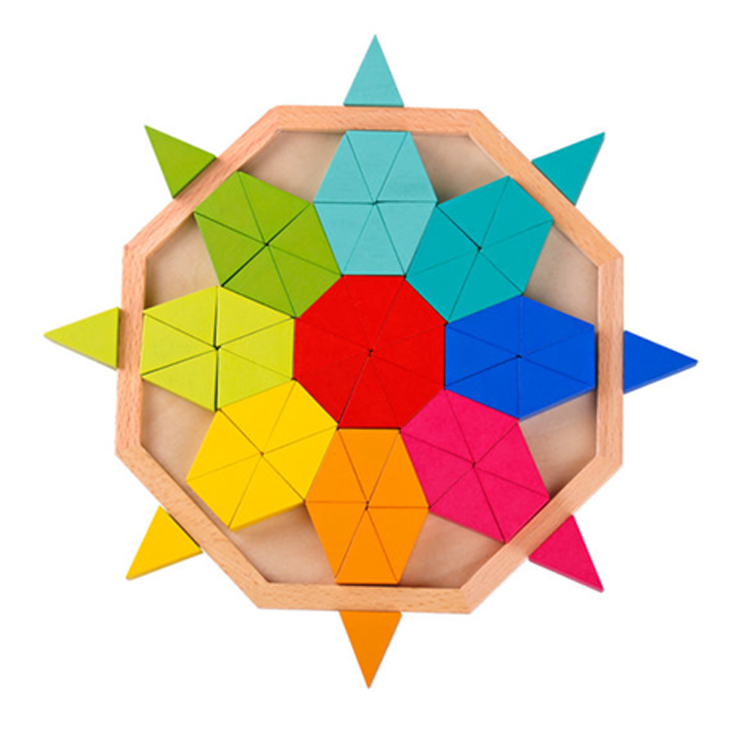 New Interesting Octagon Puzzle Learning Gift Set Wooden Children 2019 Toys For Kids