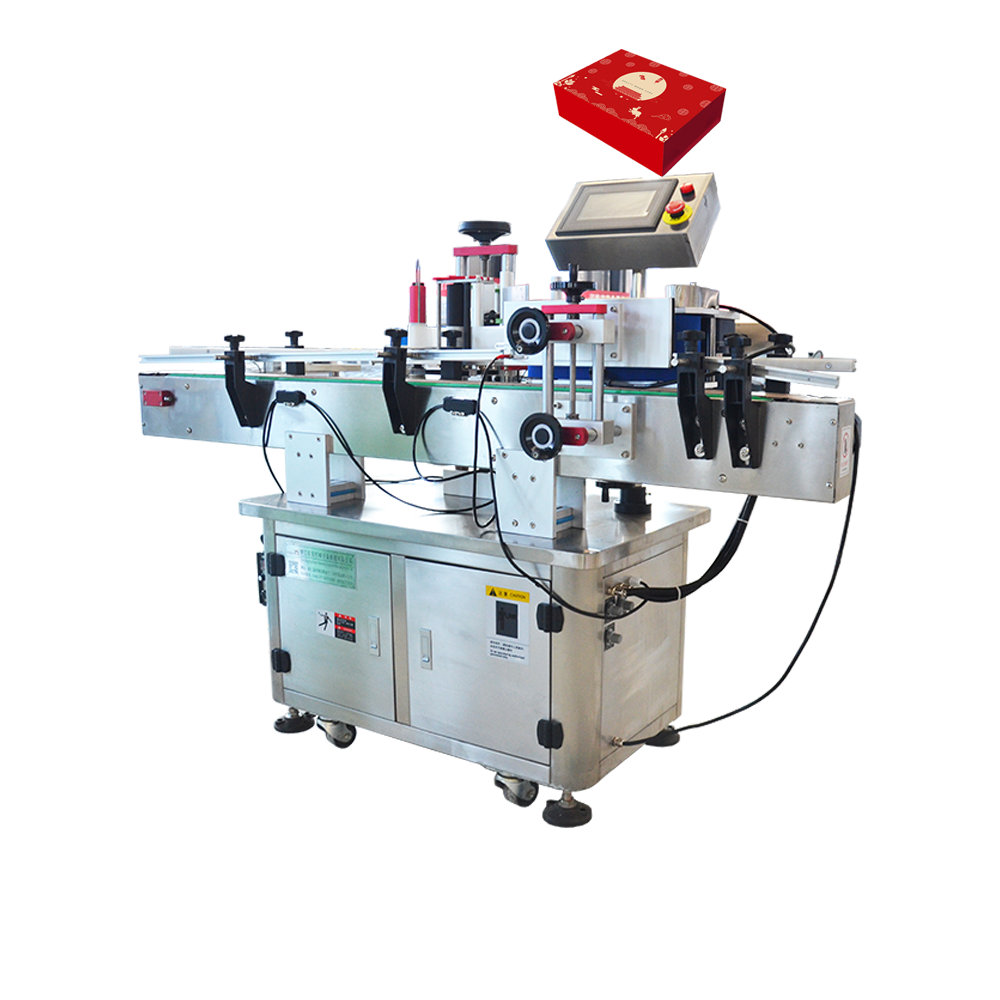 Automatische top en side pvc label dispenser machine