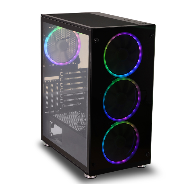 SATE- Side Glass Panel Mesh panel  supports vertical GPU PC Gaming Computer Case  K880