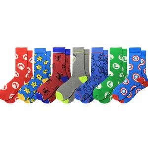 MOQ 12pairs  super hero cartoon tube comics marvel man socks crew happy funny cotton custom design