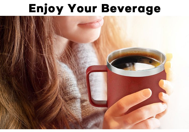 Bajo MOQ café taza de acero inoxidable taza de viaje